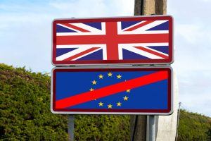 81352953 - european union, united kingdom and brexit signpost